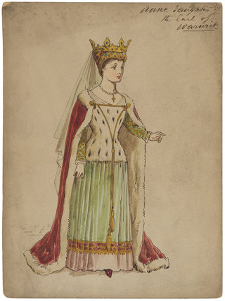 Fictitious portrait of Anne Neville (née Beauchamp), Countess of Warwick and Salisbury