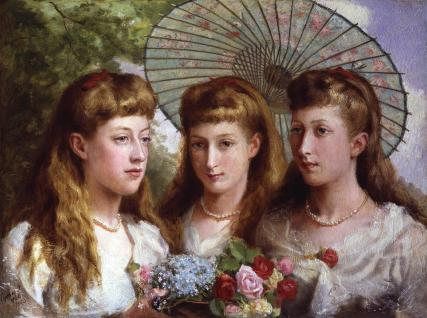 The three daughters of King Edward VII and Queen Alexandra