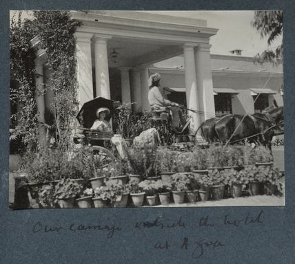 Our carriage outside the hotel at Agra' (Lady Ottoline Morrell)