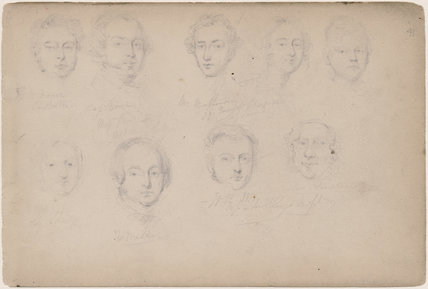 R. Vernon; Captain Vivian; Thomas Miller and six unknown sitters