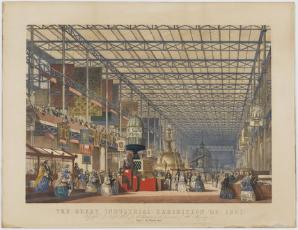 The Great Industrial Exhibition of 1851. Plate 3. The British Nave.