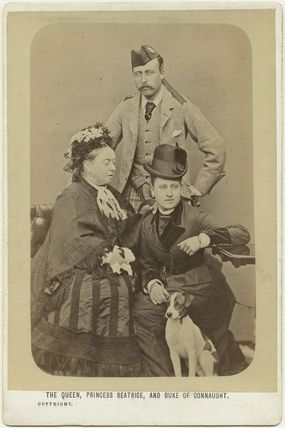 Queen Victoria; Prince Arthur, 1st Duke of Connaught and Strathearn; Princess Beatrice of Battenberg