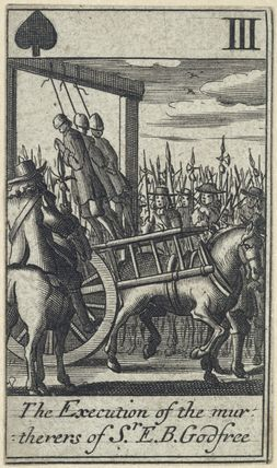 'The Execution of the murtherers of Sr. E.B. Godfree' (Robert Green; Henry Berry; Lawrence Hill)