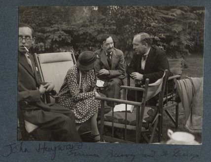 John Hayward; Dorothy Bussy (née Strachey); Simon Bussy and an unknown man