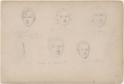 Possibly Mr Faithful; Mrs Grey; Moxon; Acland and an unknown woman