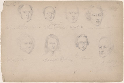 Mr Smith; Mr Collins; A. Webb; Mr Marsden; Mrs Cole Smith; Mr Cole (Bellington?) Smith and two unknown sitters