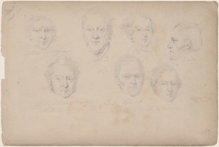 Possibly Lord Petres and six unknown sitters, including two marked 'Clifford'