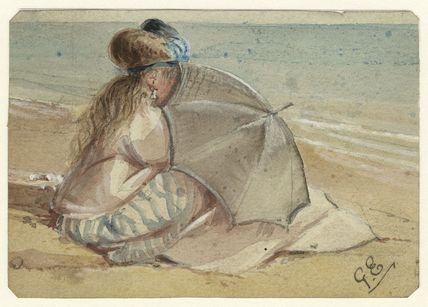 Study of an unknown woman on the beach