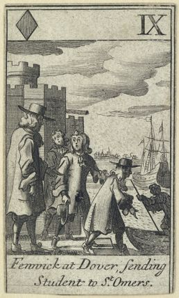 'Fenwick at Dover, sending Students to St Omers' (John Caldwell (John Fenwick))