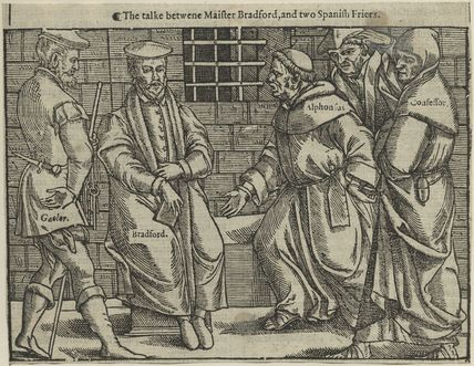 John Bradford and two unknown Spanish friars