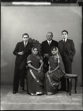 Sir Manubhai Nandshankar Mehta and family