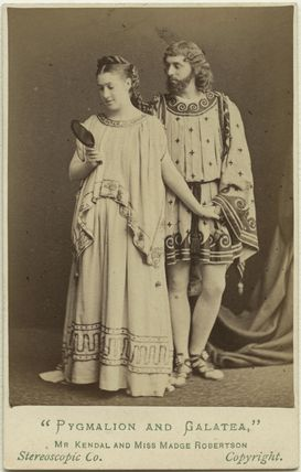 Madge Kendal as Galatea; William Hunter Kendal as Pygmalion in 'Pygmalion and Galatea'