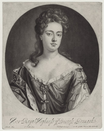 Queen Anne when Princess of Denmark