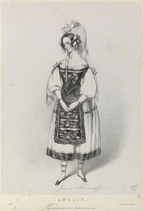 Jane Shirreff (Mrs Walcott) as Amilie in 'Amilie'