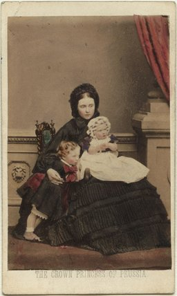 Victoria, Empress of Germany and Queen of Prussia with her two eldest children