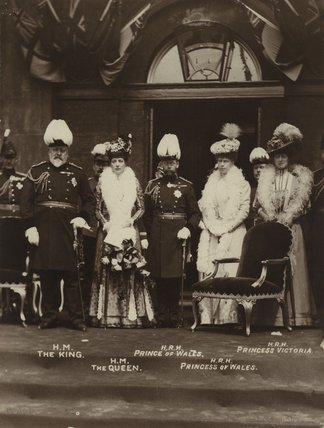 King Edward VII; Queen Alexandra; King George V; Queen Mary; Princess Victoria of Wales