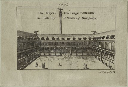 The Royal Exchange in London as built by Thomas Gresham