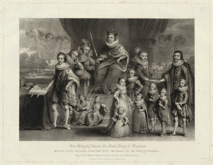 'James I and his royal progeny'