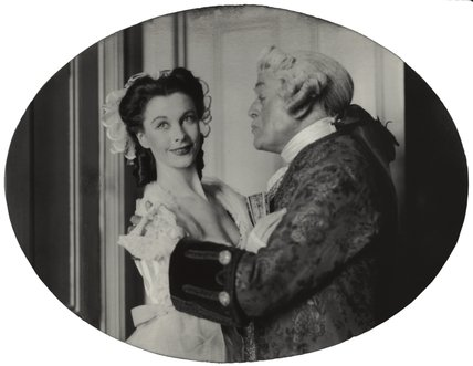Vivien Leigh as Lady Teazle and Cyril Francis Maude as Sir Peter in 'The School for Scandal'