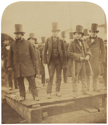 Isambard Kingdom Brunel preparing the launch of 'The Great Eastern'