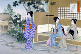 Waiting until the beginning of the ceremony, by Mizuno Toshikata