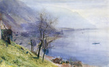 View above Montreux, by John William Inchbold