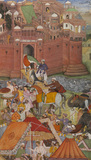 Akbar Receives Trophies of War from Asaf Khan, by Nanha