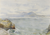 Vesuvius and the Bay of Naples from Posilipo, by John William Inchbold