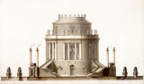 Elevation of the Prince of Wales Mausoleum for Kew, by Sir William Chambers