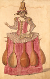 Ballet costume design for a lady with lutes