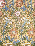 Pink & Rose wallpaper, by William Morris