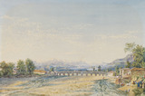 Bridge over the river Herauz at Amol, by James Baillie Fraser