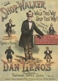 Song sheet cover featuring Dan Leno in Walter de Frece's The Shop Walker