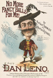 Song sheet cover featuring Dan Leno in No More Fancy Balls for Me!