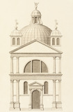 Drawing of a section of the Zitelle Giudecca, by Antonio Visentini