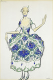 Costume design for Felicita, by Leon Bakst