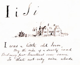The letter I, by Edward Lear