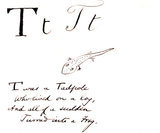 The letter T, by Edward Lear