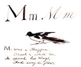 The letter M, by Edward Lear