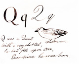 The letter Q, by Edward Lear