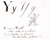The letter Y, by Edward Lear