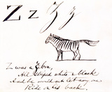 The letter Z, by Edward Lear
