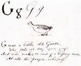 The letter G, by Edward Lear