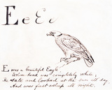 The letter E, by Edward Lear