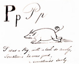 The letter P, by Edward Lear