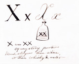 The letter X, by Edward Lear