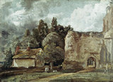 East Bergholt Church , by John Constable