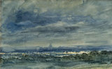 View at Hampstead Looking towards London, by John Constable