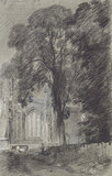 East Bergholt Church : Part of the West End, by John Constable