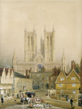Lincoln Cathedral, by Peter de Wint